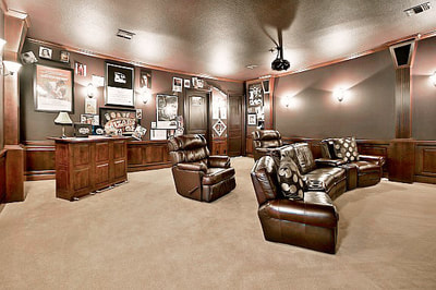 Luxury Estate Kissimmee Large Custom Home Theater