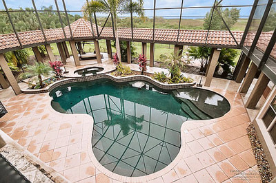 Luxury Estate Kissimmee Enclosed Patio with Pool and Gazebo