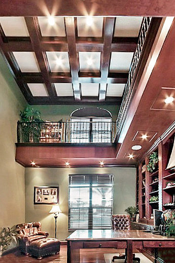 Luxury Estate Kissimmee Large  Office Study Library High Ceiling