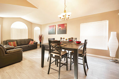 Elegant Home Kissimmee Sitting Room and Dining Room