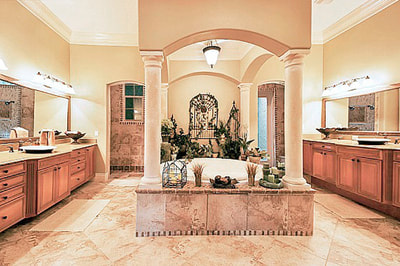 Luxury Estate Kissimmee Large Master Bathroom with Garden Tub