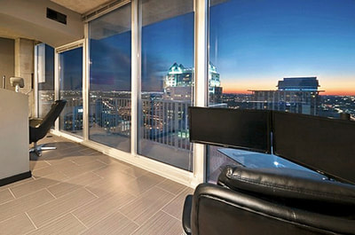 Luxury Downtown Orlando High Rise Condo Sunset View City